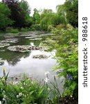 waterlily pond at monet's garden   Shutterstock . vector #988618
