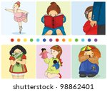 vector illustration collection... | Shutterstock .eps vector #98862401