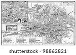 vintage map of sarajevo from... | Shutterstock . vector #98862821