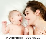 Stock photo happy mother with baby 98870129