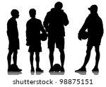 vector image of football...   Shutterstock .eps vector #98875151