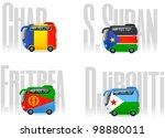 travel cartoon icons  buses ... | Shutterstock .eps vector #98880011