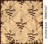 vintage abstract pattern on old ... | Shutterstock .eps vector #98883167