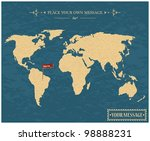 vintage world map | Shutterstock .eps vector #98888231