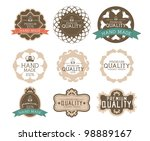vintage label style with nine...   Shutterstock .eps vector #98889167