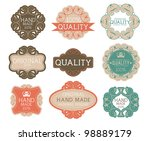 vintage label style with nine... | Shutterstock .eps vector #98889179