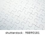 Stock photo white puzzle 98890181