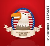 vector american patriotic eagle