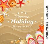 holiday greeting card with... | Shutterstock .eps vector #98899835