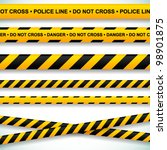 police line and danger tapes.... | Shutterstock .eps vector #98901875