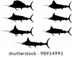 Billfish Silhouettes