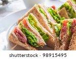 sandwich with bacon   chicken ... | Shutterstock . vector #98915495