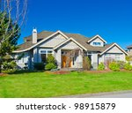 expensive luxury home against a ... | Shutterstock . vector #98915879