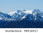 Snow Mountains And Forests In...
