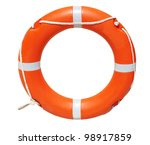 a ring buoy  isolated on white... | Shutterstock . vector #98917859