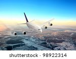 modern airplane  in the sky...   Shutterstock . vector #98922314
