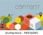 poster design layout design... | Shutterstock .eps vector #98926085