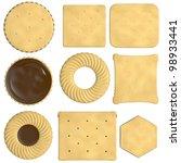 3d  render of biscuit food | Shutterstock . vector #98933441