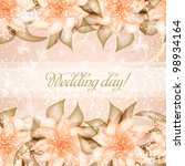 wedding card or invitation with ... | Shutterstock .eps vector #98934164