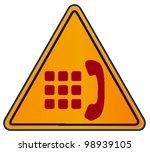 vector triangular road sign...   Shutterstock .eps vector #98939105