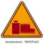 vector triangular road sign...   Shutterstock .eps vector #98939165