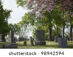 gravestones in a cemetery with... | Shutterstock . vector #98942594