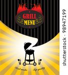 grill menu  vector illustration | Shutterstock .eps vector #98947199