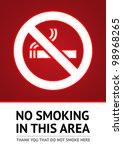 label no smoking sticker.... | Shutterstock .eps vector #98968265