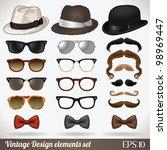 vintage design elements set ... | Shutterstock .eps vector #98969447