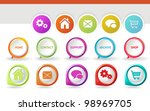 3d navigation icons   3d...   Shutterstock .eps vector #98969705
