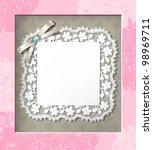 elegant lace frame. eps 10 | Shutterstock .eps vector #98969711