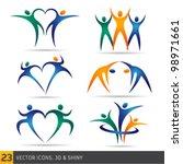 fitness elements | Shutterstock .eps vector #98971661