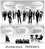 business people team with 3d... | Shutterstock .eps vector #98983811