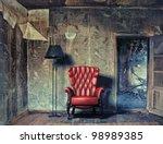 Luxury Armchair In Grunge...