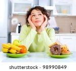 diet. dieting concept. healthy... | Shutterstock . vector #98990849