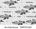 seamless background of black...   Shutterstock .eps vector #98991365