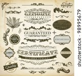 vector set of calligraphic... | Shutterstock .eps vector #98995679