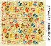easter eggs    old easter... | Shutterstock . vector #98999129