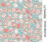 easter eggs    old easter... | Shutterstock . vector #98999177