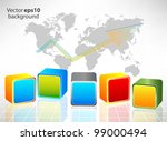 abstract background with cube | Shutterstock .eps vector #99000494