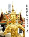 golden angel  wat pra kaew ... | Shutterstock . vector #99002237