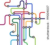 colorful abstract subway map... | Shutterstock .eps vector #99004037