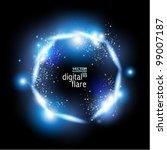 stylish neon digital flare...   Shutterstock .eps vector #99007187