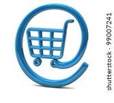 blue internet on line shopping... | Shutterstock . vector #99007241