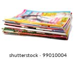 a stack of old colored... | Shutterstock . vector #99010004