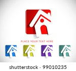 set of vector home icon design...