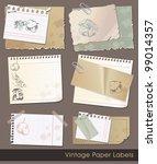 Vintage Old Paper Sales Tags...