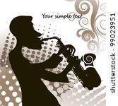 jazz saxophonist retro | Shutterstock .eps vector #99023951