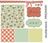 vintage rose pattern  frames... | Shutterstock .eps vector #99024449