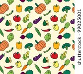 seamless pattern with vegetables | Shutterstock .eps vector #99025001